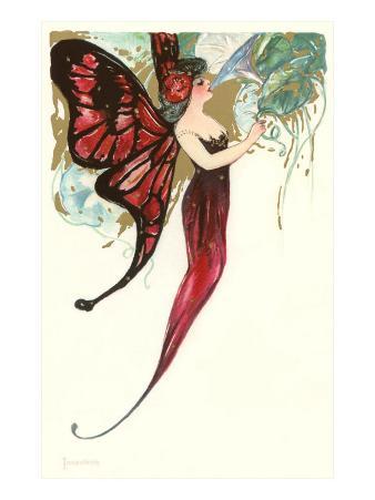 Butterfly Lady,Art Nouveau