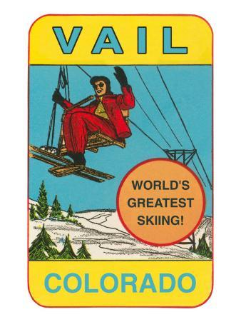 Skiing, Vail, Colorado