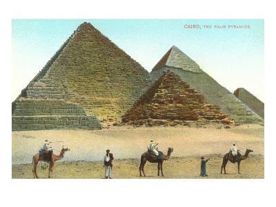 Giza Pyramids, Camels, Egypt