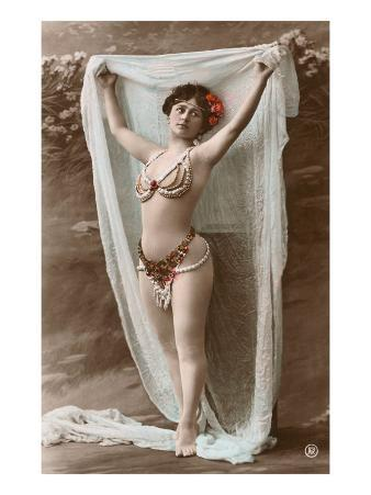 Belly Dancer with Fabric