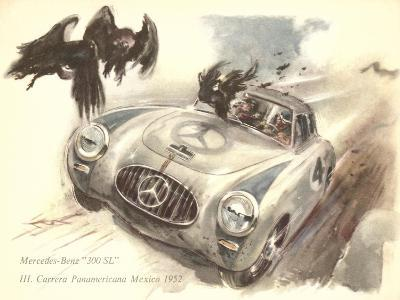 Mercedes Sportscar with Vultures