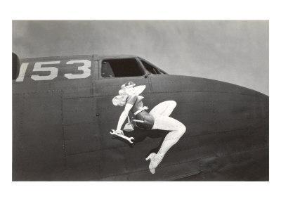 Nose Art, Pin-Up with Wrench