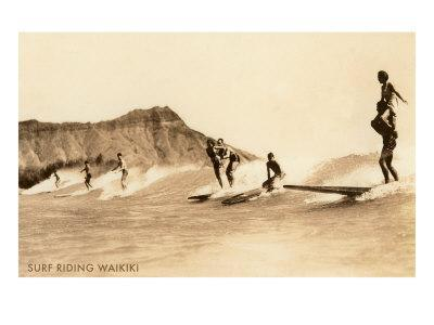 Surf Riding, Hawaii, Photo