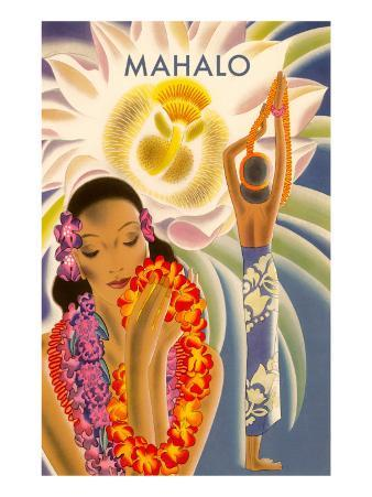Mahalo, Hawaiian Menu Graphic