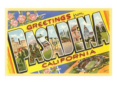 Greetings from Pasadena, California