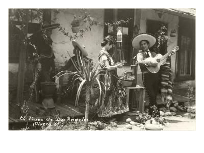 Native Mexicans, Olvera Street, Los Angeles, California