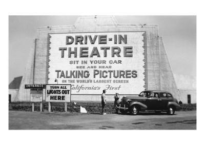Drive-In Theatre, Los Angeles, California