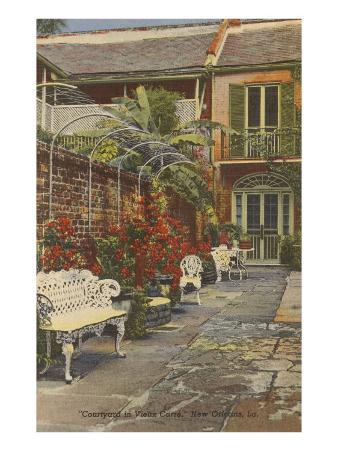 Courtyard, Vieux Carre, New Orleans, Louisiana