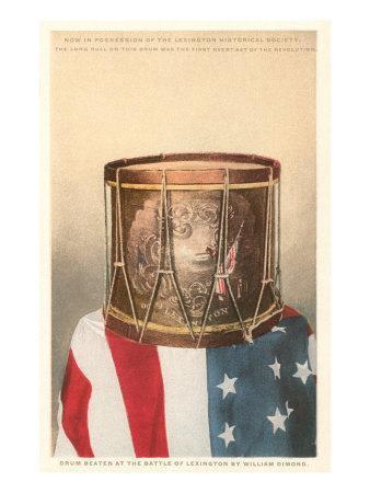 Revolutionary War Drum, Lexington, Massachusetts