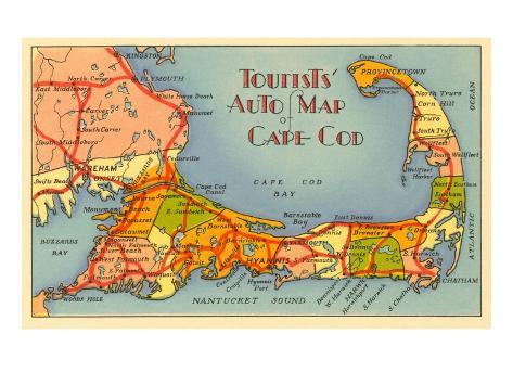 image relating to Printable Map of Cape Cod named Map of Cape Cod, Machusetts