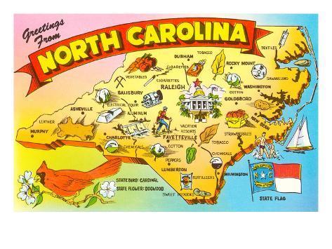 photo about Printable Map of North Carolina referred to as Map of North Carolina