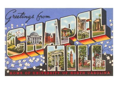 Greetings from Chapel Hill, North Carolina