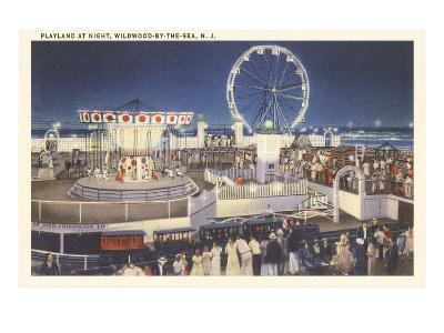 Night, Amusement Park, Wildwood-by-the-Sea, New Jersey