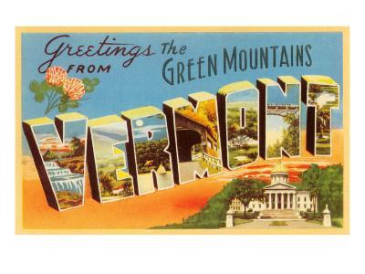 Greetings from Green Mountains, Vermont