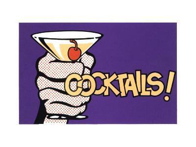 Cocktails! Pop Art with Martini in Hand