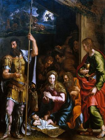 Adotation of the Shepherds with the Saints Longinus and John the Evangelist