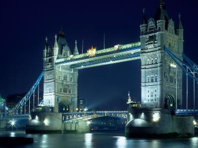 Evening View of The Tower Bridge, London, England