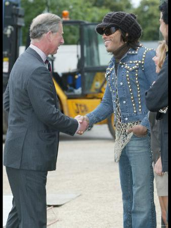Prince Charles Meets Geri Haliwell, Lionel Richie and Lenny Kravitz During the Prince's Trust Party