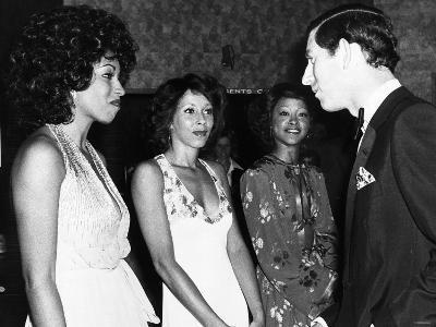 The Three Degrees Meet Prince Charles After Charity Show at a Country Club in Eastbourne, Sussex