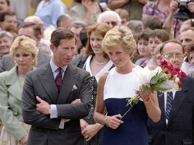 Princess Diana and Prince Charles Overseas Visit to Hungary, May 1990