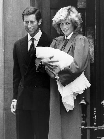 Prince Harry with His Parents Leaving St Mary's Hospital Paddington Where He Was Born