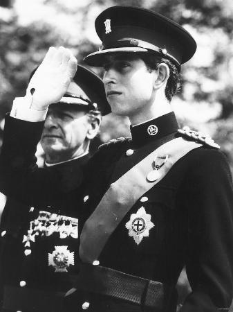 Prince Charles as the Colonel-In-Chief of the New Royal Regiment of Wales June 1969