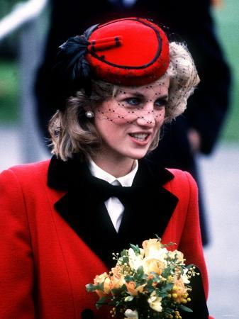 Princess Diana at the Royal School For the Blind at Leatherhead December 1984