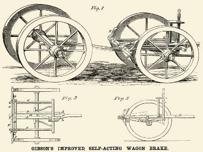 Gibson's Improved Self-Acting Wagon Brake