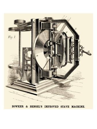Bowker and Bensel's Improved Stave Machine