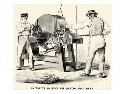Patrullo's Machine for Making Sisal Hemp