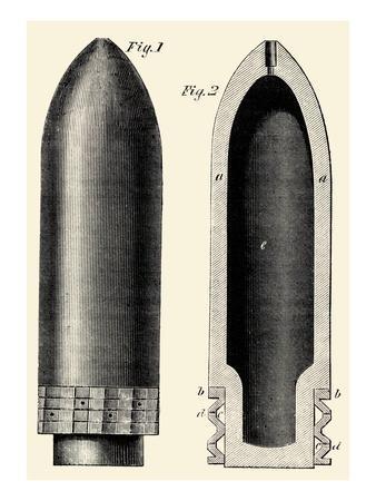 Exploding Artillery Shell for Breech-Loaders