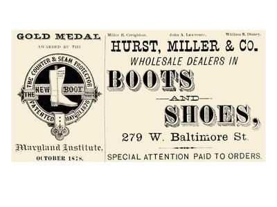 Hurst Miller and Co. - Wholesale Dealers in Boots and Shoes