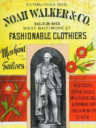 Noah Walker and Co. Fashionable Clothiers
