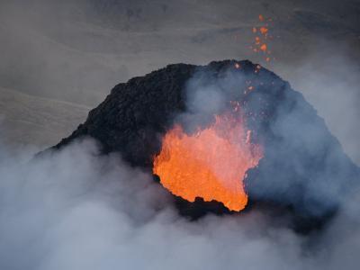 Pacaya Volcano Erupting at First Light Near Guatemala City