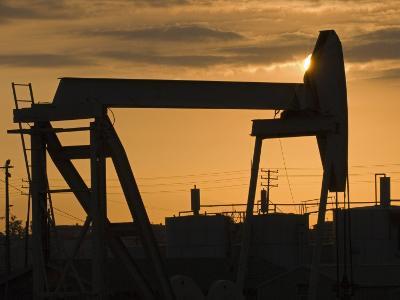 Oil Rig at Sunrise in Los Cerritos Wetlands, a Trust For Public Land