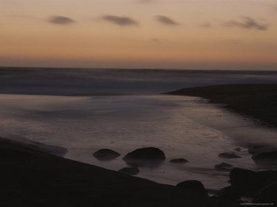 Twilight View of a Beach South of Carmel, California