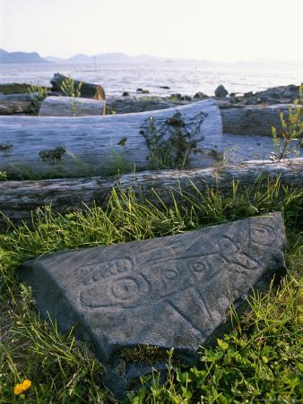 Killer Whale Petroglyph on the Beach at Petroglyph Beach State Park