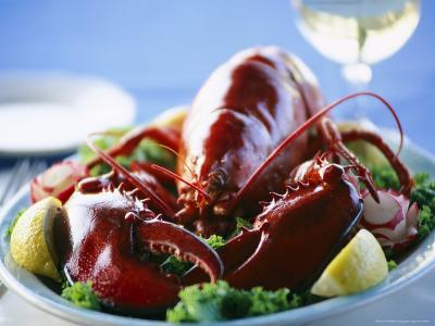 Close View of a Traditional Cape Cod Lobster Dinner