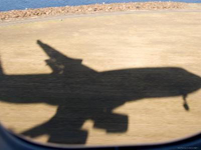 Shadow of Boeing 747 Landing at Sydney