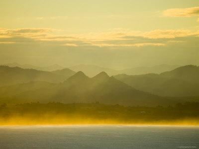 Late Afternoon Sunlight on Byron Bay, with Mount Warning National Park Beyond