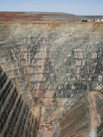 Overhead of Sons of Gwalia Mine Near Leonora