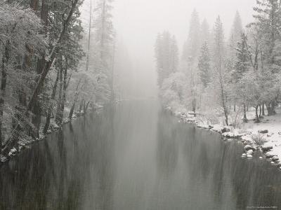 Winter Snowstorm on Merced River