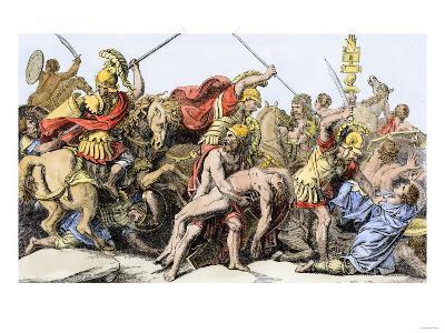 Greeks and Trojans around the Body of Patrocles, Trojan Wars
