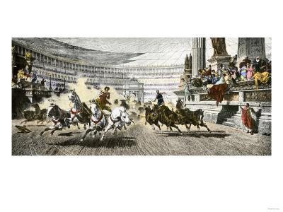Chariot Race in the Circus Maximus of Ancient Rome