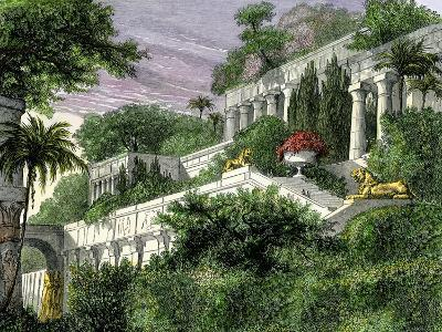 Babylon's Hanging Gardens, One of the Seven Wonders of the Ancient World