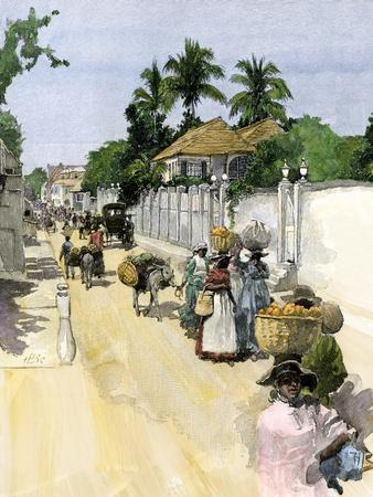 Jamaicans Bringing their Produce to Market, c.1890