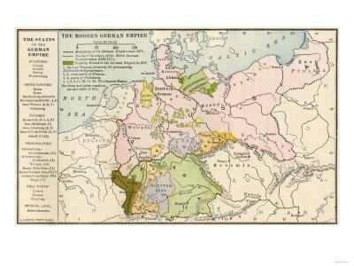 Map of the German Empire before World War I, c.1912