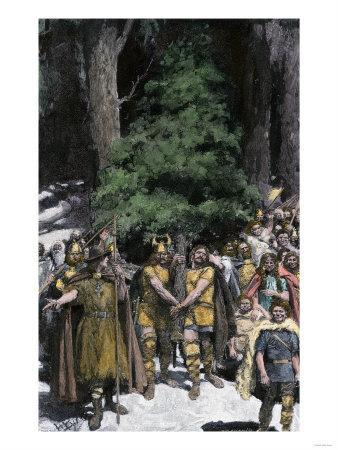 Men Bringing the First Christmas Tree to the Village