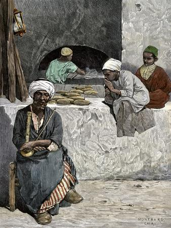 Arab Bakers at their Bread Oven in Cairo, Egypt, 1880s