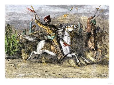 Genghis Khan Leading the Mongols